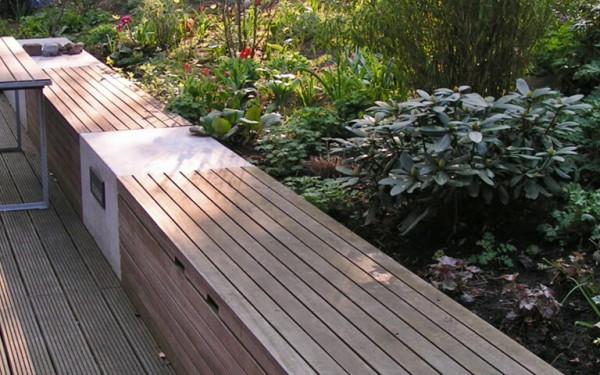 Moderner Garten mit Höhenunterschieden 1