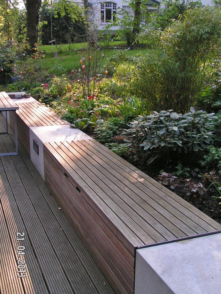 Moderner Garten mit Höhenunterschieden 1 vollbild