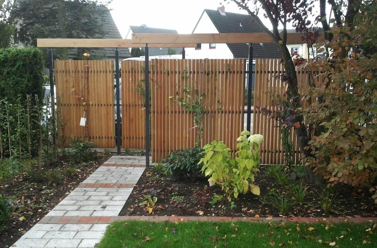 Sichtwand Mauer Reihenhaus Garten Sichtschutz