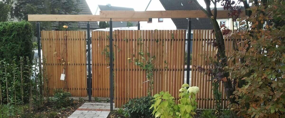 Sichtschutz im Reihenhausgarten